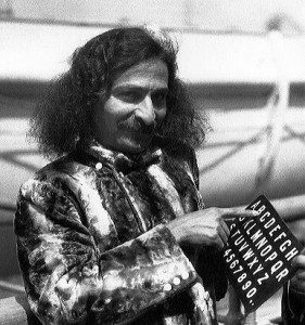 Baba with alphabet board 1930s